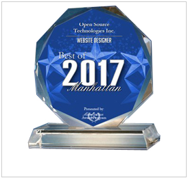 Open Source Technologies Inc. Receives 2017 Best of Manhattan Award