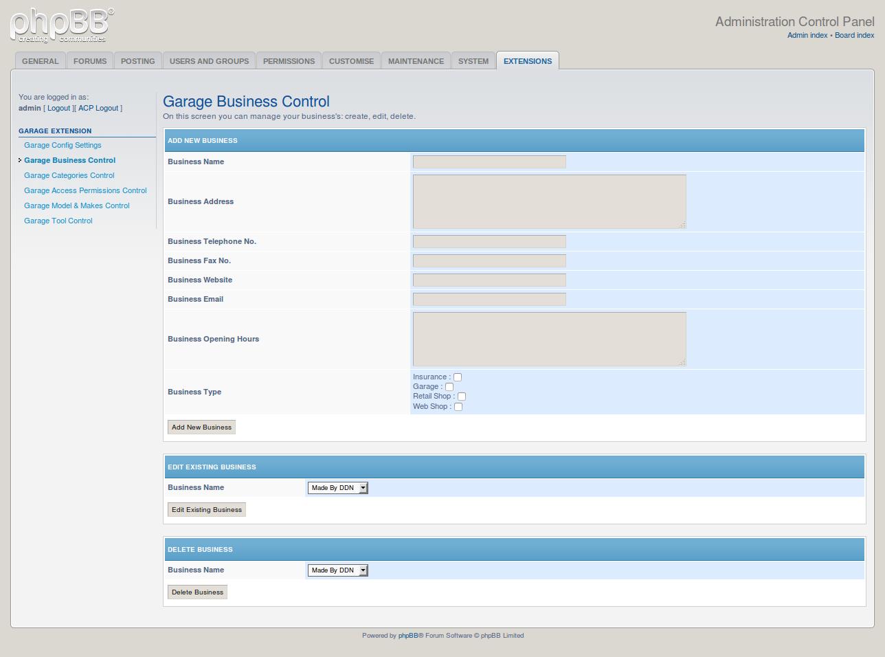 phpbb garage opensource technologies