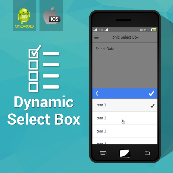 Dynamic Select Box- An IONIC Framework Plugin