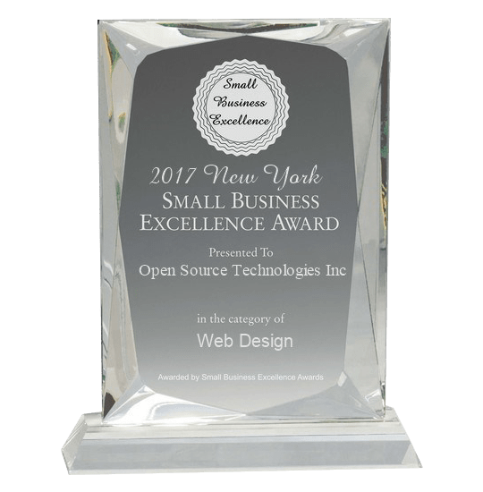 OST- Receives New York SMALL BUSINESS EXCELLENCE AWARD