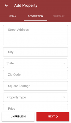 Property Broker Ionic Template Screen 4