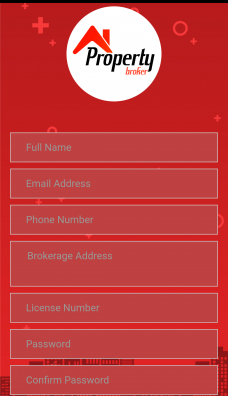 Property Broker Ionic Template Screen 2