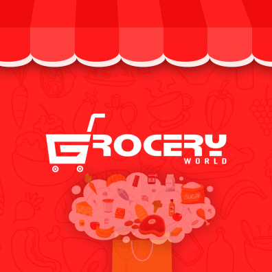 Grocery World Banner